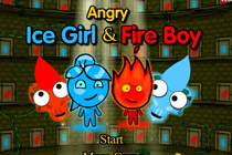 Angry Icegirl and Fireboy